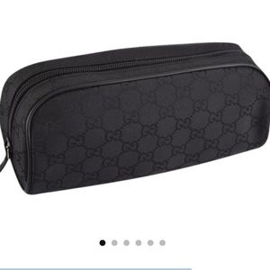 Gucci Black Nylon Cosmetic Bag